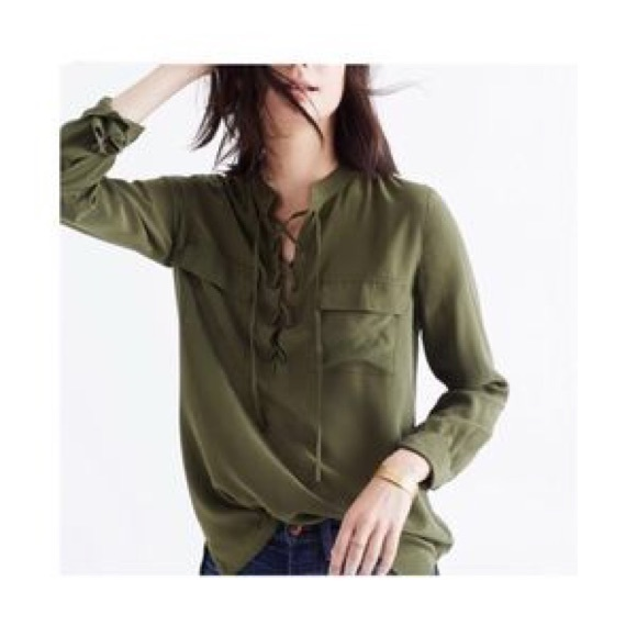 Madewell Tops - Madewell Silk Long Sleeves Blouse